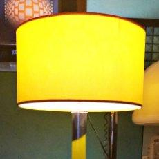 Vintage: LAMPARA SOBREMESA OPALINA AMARILLA XXL. Lote 175640128
