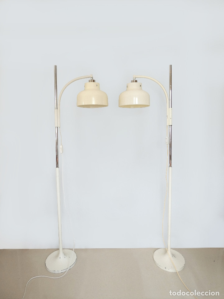 Vintage: Páreja de lámparas de pie Max Bill por Miguel Mila para Tramo, 1960s - Foto 3 - 176134457