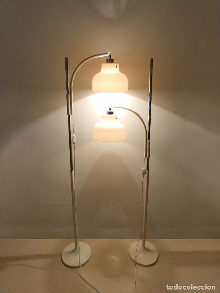 Vintage: Páreja de lámparas de pie Max Bill por Miguel Mila para Tramo, 1960s - Foto 4 - 176134457