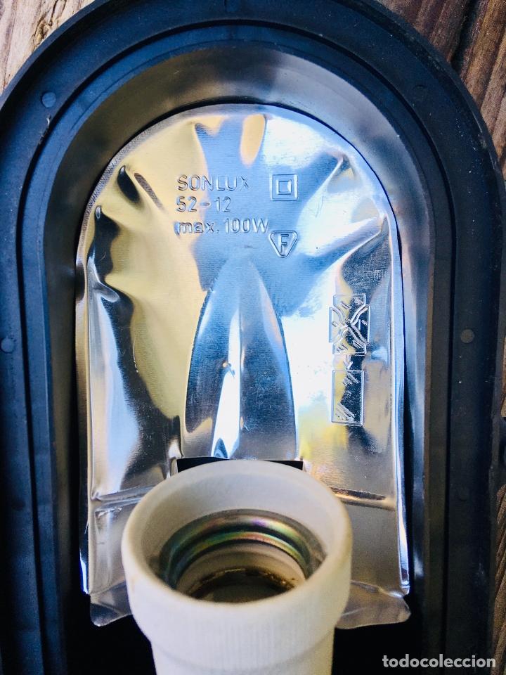 Vintage: APLIQUE DE REJILLA INDUSTRIAL MADE IN GERMANY LAMPARA DE PARED CON TULIPA DE CRISTAL - Foto 5 - 176282212