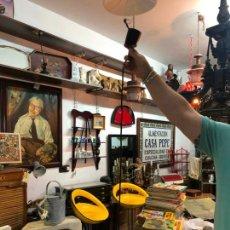 Vintage: LAMPARA AÑOS 60 CON GRAN TULIPA DE CRISTAL - MEDIDA TULIPA 28 CM. Lote 176802263