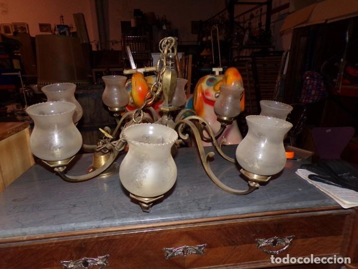 LAMPARA TECHO (Vintage - Lámparas, Apliques, Candelabros y Faroles)