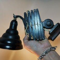 Vintage: LAMPARA DE TALLER FLEXO INDUSTRIAL FUELLE..ACORDEON TIJERAS...MARCA ESPAÑOLA LUXUS. Lote 177177900