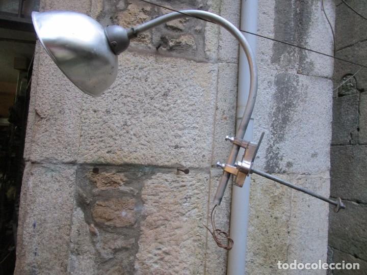 FAROLA DE CALLE AÑOS 60 70 VINTAGE INDUSTRIAL RETRO - ALUMINIO - COMPLETA Y REVISADA + INFO (Vintage - Lámparas, Apliques, Candelabros y Faroles)