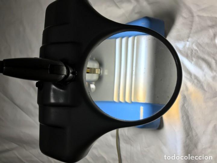 Vintage: LAMPARA INDUSTRIAL CON LUPA 3X, ARTICULADA, DAZOR MADE U.S.A. 1950 DIMENSIONES 76X25X16 cm. - Foto 11 - 226135265
