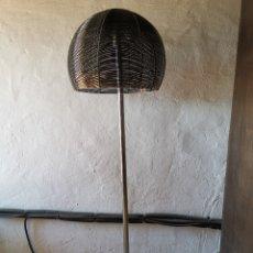 Vintage: LAMPARA DE PIE CROMADA SPACE AGE OP ART VINTAGE AÑOS 70 SHABBY CHIC RETRO-SETA. Lote 178051660