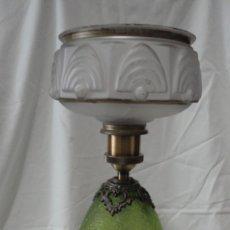 Vintage: LAMPARA ANTIGUA RESTAURADA, CABLEADO Y PORTA BOMBILLAS NUEVO 46X17 CM. Lote 178208738