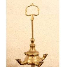 Vintage: CANDIL DE ACEITE DE 4 LUCES. Lote 178271763
