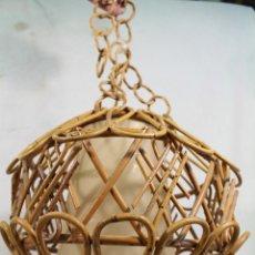 Vintage: LAMPARA DE TECHO EN BAMBÚ. Lote 178835948