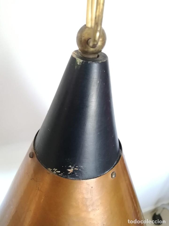 Vintage: Lampara Danesa de cono en cobre, 1970s - Foto 2 - 178965167