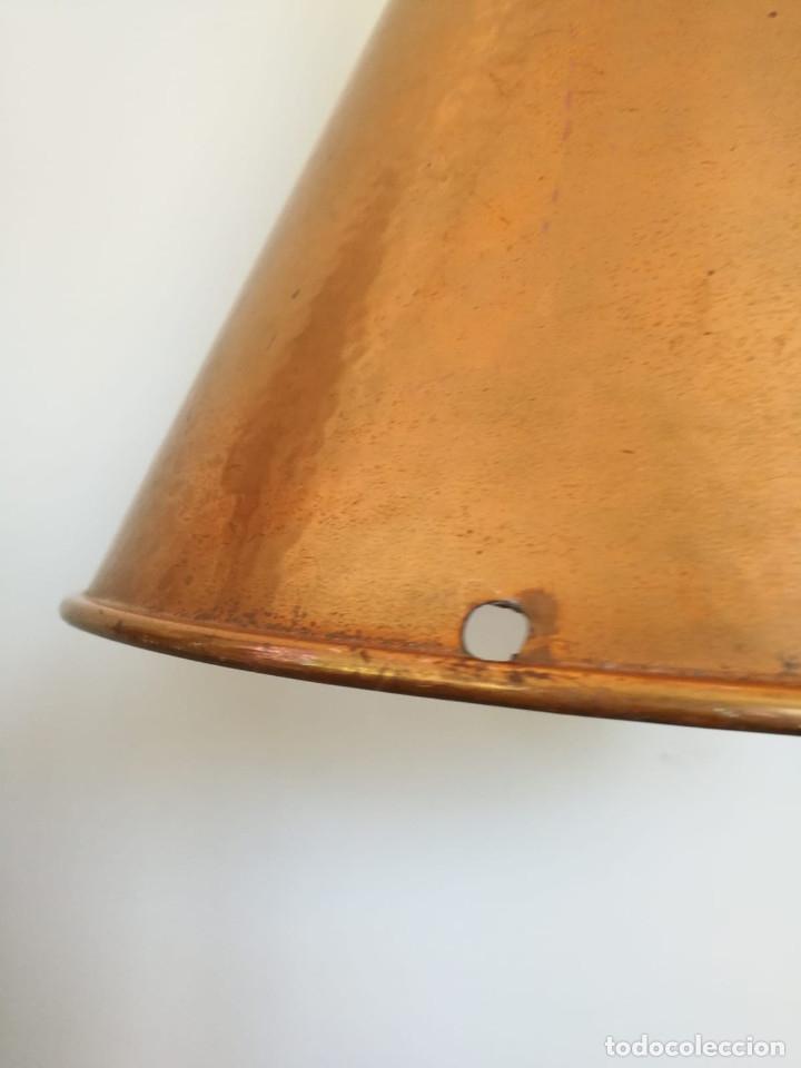 Vintage: Lampara Danesa de cono en cobre, 1970s - Foto 8 - 178965167