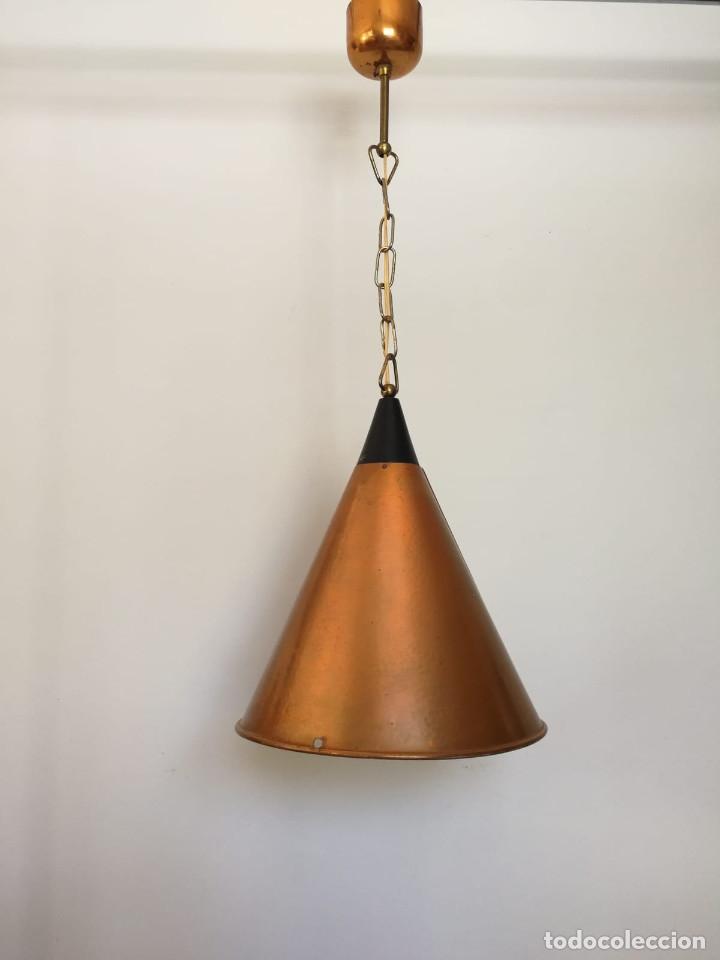Vintage: Lampara Danesa de cono en cobre, 1970s - Foto 10 - 178965167