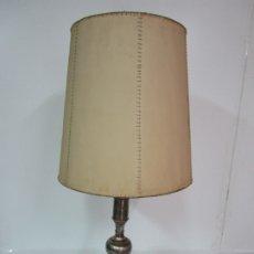Vintage: LAMPARA SOBREMESA VALENTI - METAL PLATEADO - CON PANTALLA - VINTAGE. Lote 179128097