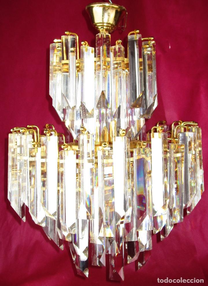 Vintage: ESPECTACULAR LAMPARA CASCADA VINTAGE CRISTAL MURANO VENINI - Foto 2 - 179333598