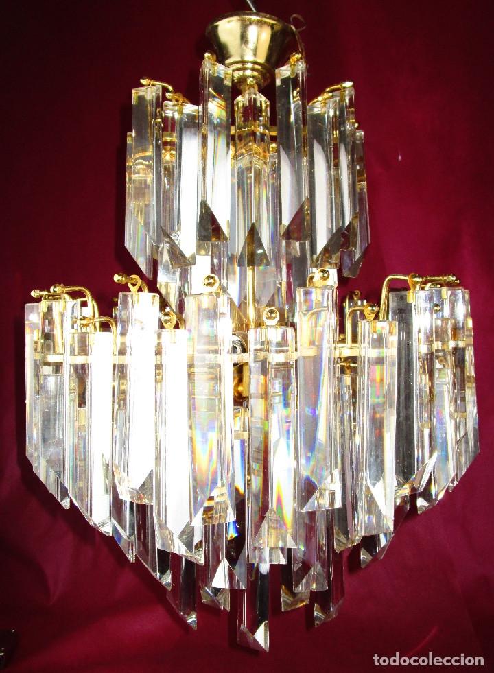 Vintage: ESPECTACULAR LAMPARA CASCADA VINTAGE CRISTAL MURANO VENINI - Foto 6 - 179333598