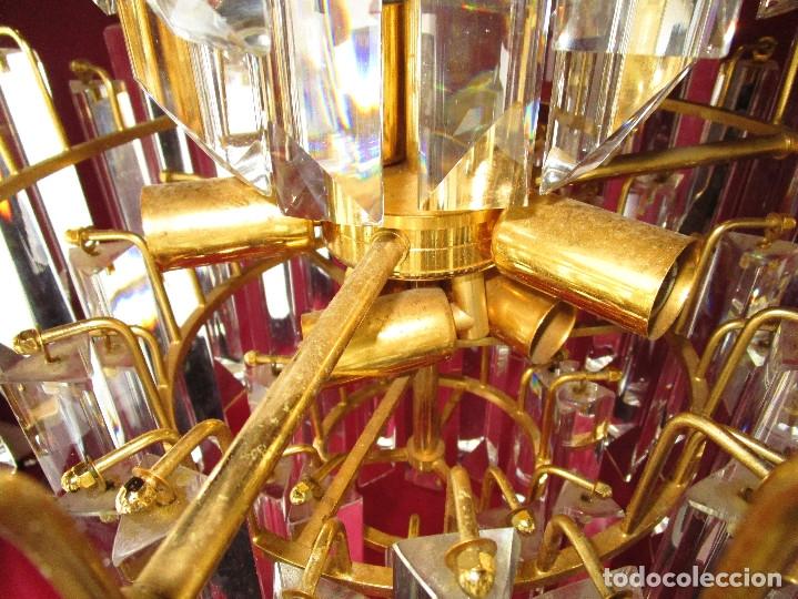Vintage: ESPECTACULAR LAMPARA CASCADA VINTAGE CRISTAL MURANO VENINI - Foto 7 - 179333598