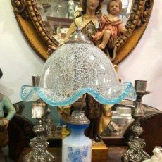 Vintage: PRECIOSA LAMPARA DE MESA CRISTAL MURANO - MEDIDA 50 CM - VINTAGE. Lote 179528496