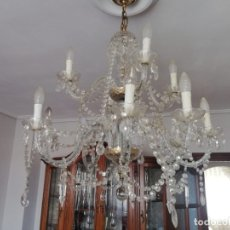 Vintage: LAMPARA DE CRISTAL TIPO LA GRANJA.. Lote 180122537
