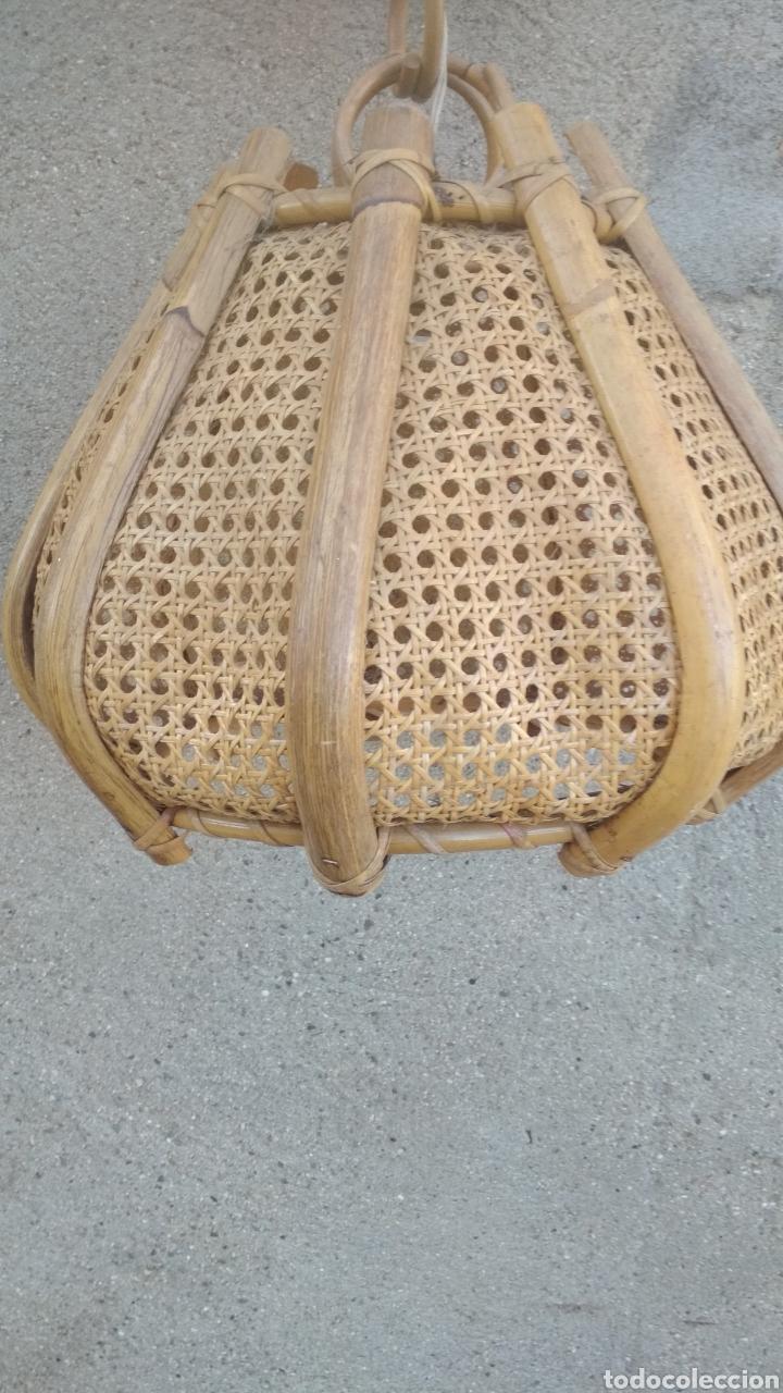 Vintage: Lámpara antigua de madera. - Foto 2 - 180957101