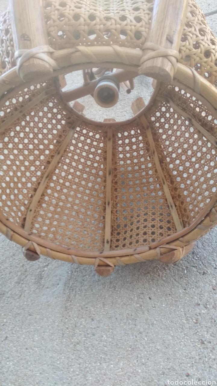 Vintage: Lámpara antigua de madera. - Foto 3 - 180957101