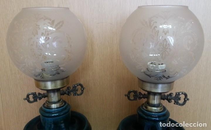 Vintage: Lámparas de mesa vintage. Pareja completa y funcionando. - Foto 2 - 181344727