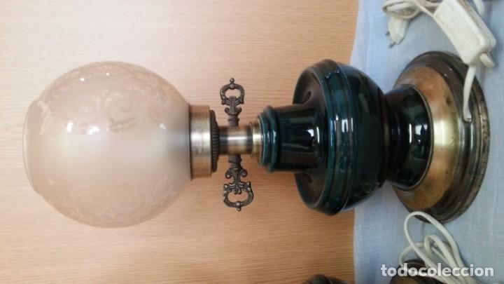 Vintage: Lámparas de mesa vintage. Pareja completa y funcionando. - Foto 5 - 181344727