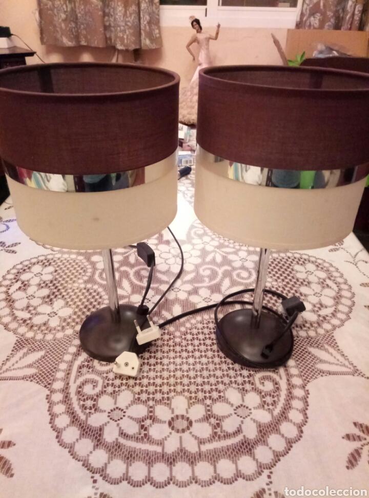PAREJA LAMPARAS VINTAGE (Vintage - Lámparas, Apliques, Candelabros y Faroles)