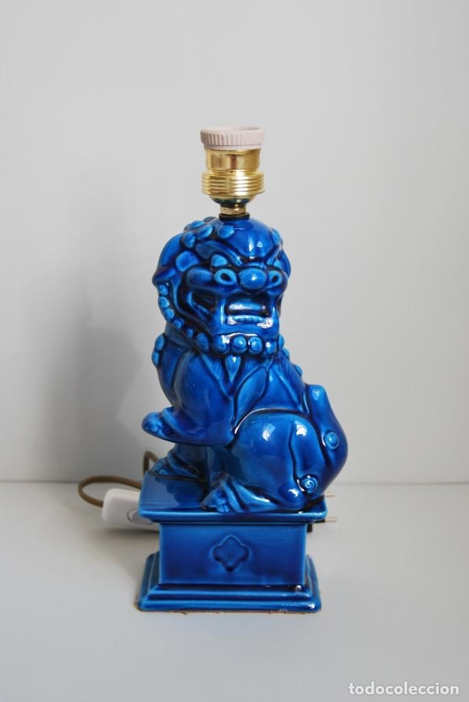 LÁMPARA PERRO FOO - FURIA CHINA - DRAGÓN - AÑOS 60 (Vintage - Lámparas, Apliques, Candelabros y Faroles)