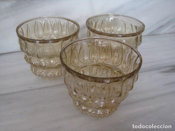Vintage: Lote de 3 tulipas de cristal grueso. - Foto 2 - 181791001