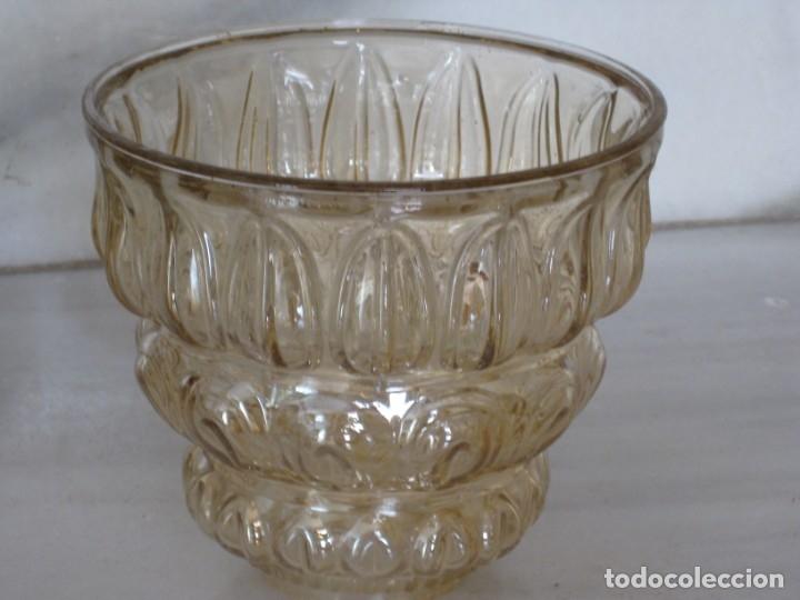 Vintage: Lote de 3 tulipas de cristal grueso. - Foto 6 - 181791001