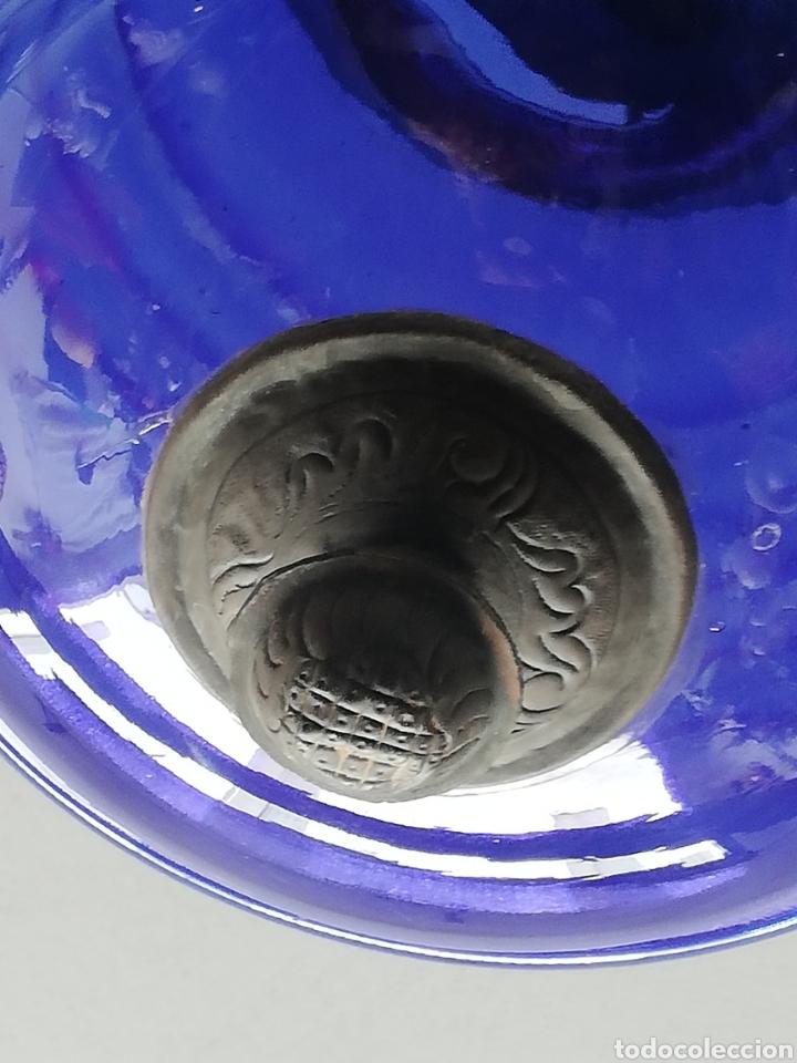 Vintage: Bonita lampara con gran bola de techo estilo modernista en bronce y cristal - Foto 8 - 182589953