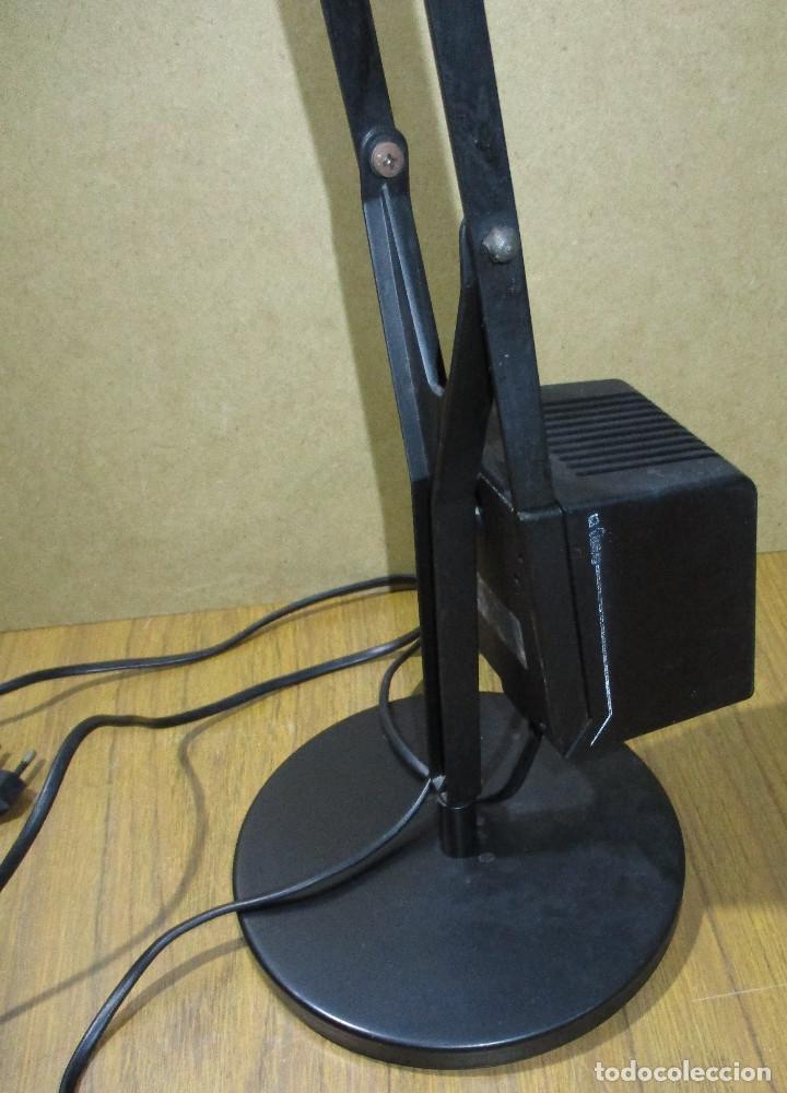 Vintage: Lámpara de sobremesa negra FASE mod. CISNE, made in Spain años 80 retro vintage flexo arquitecto - Foto 4 - 182685891