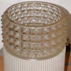 Vintage: PANTALLA DE CRISTAL PARA LÁMPARA. Lote 183093860