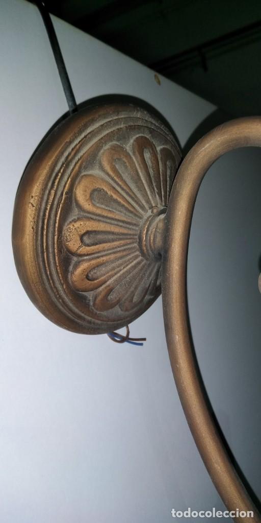 Vintage: APLIQUE DE PARED EN HIERRO PATINADO - Foto 3 - 183774155
