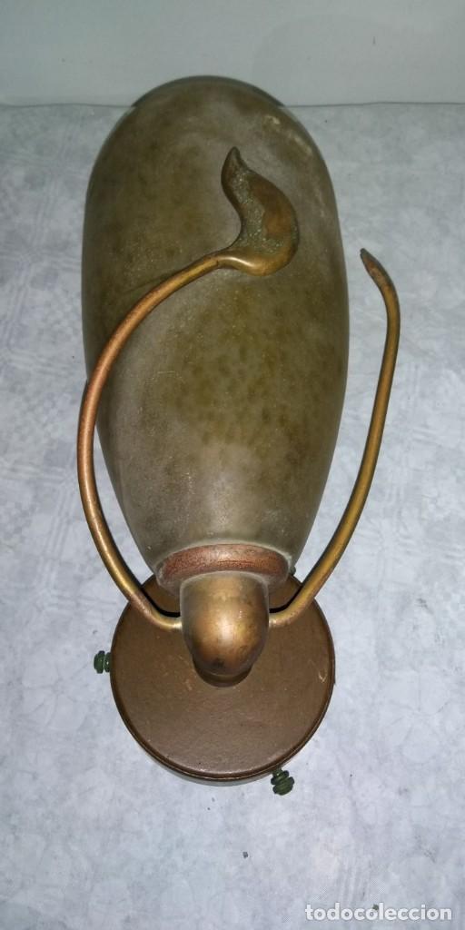 APLIQUE DE PARED EN BRONCE ENVEJECIDO Y CRISTAL (Vintage - Lámparas, Apliques, Candelabros y Faroles)