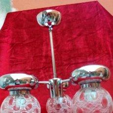 Vintage: LAMPARA DE TECHO AÑOS 70-3 LUCES. Lote 183818565