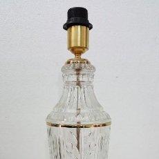 Vintage: LAMPARA DE VIDRIO TALLADO. Lote 183982127