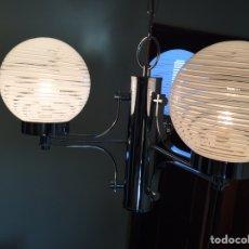 Vintage: LAMPARA DE TECHO SPACE AGE REVERSIBLE. Lote 184429062