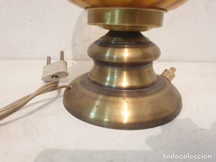 Vintage: LAMPARITA BASE METAL LATON AÑOS 70 - Foto 2 - 184535950