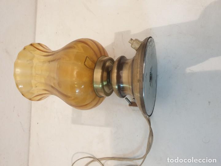 Vintage: LAMPARITA BASE METAL LATON AÑOS 70 - Foto 4 - 184535950