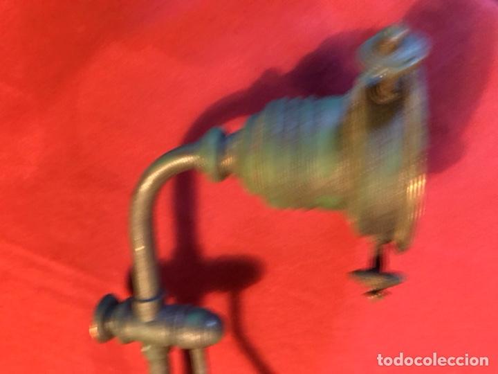 Vintage: Lámpara de billar de bronce con tulipas de opalina - Foto 13 - 184917416