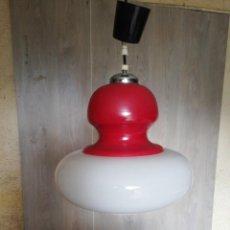 Vintage: LAMPARA TECHO OPALINA VINTAGE. Lote 185695635