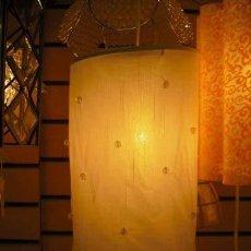 Vintage: LOXTON LIGHTING BT411/CRM LÁMPARA COLGANTE, COLOR CREMA - 28,4 X 26,4 X 7,8 CM 60 VATIOS NUEVA CAJA. Lote 209928830