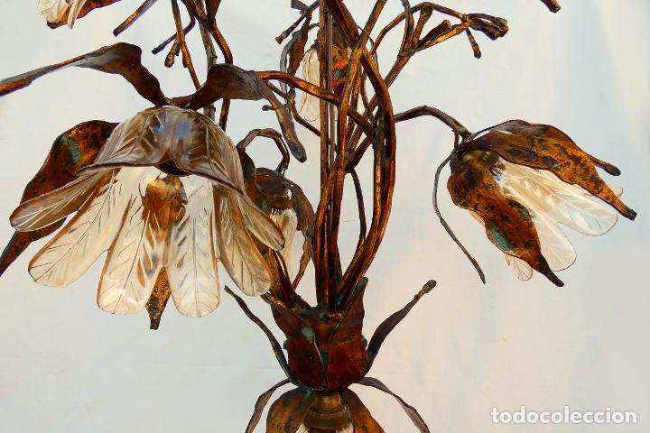 Vintage: Gran lámpara espectacular estilo Art nouveau brutalista - Foto 4 - 186096821
