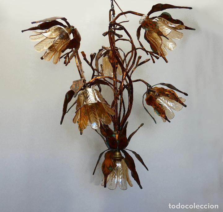 Vintage: Gran lámpara espectacular estilo Art nouveau brutalista - Foto 5 - 186096821