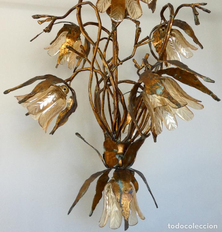 Vintage: Gran lámpara espectacular estilo Art nouveau brutalista - Foto 7 - 186096821