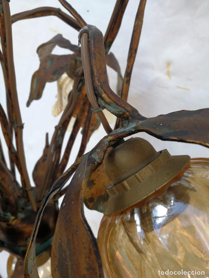 Vintage: Gran lámpara espectacular estilo Art nouveau brutalista - Foto 14 - 186096821