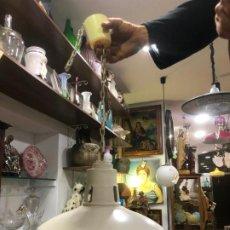 Vintage: LAMPARA DE TECHO TIPO INDUSTRIAL - MEDIDA 65X37 CM. Lote 187160448