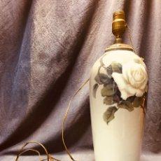 Vintage: LAMPARA JARRON PORCELANA PINTADA MANO DENMARK DANES 46CMS 1915 - 1947 BING & GRONDAHL B & G. Lote 188422488