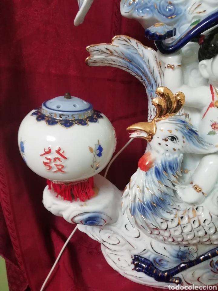 Vintage: Lámpara porcelana china - Foto 5 - 188437748